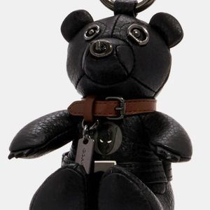 Coach MARVEL BLACK PANTHER Leather Bear Charm